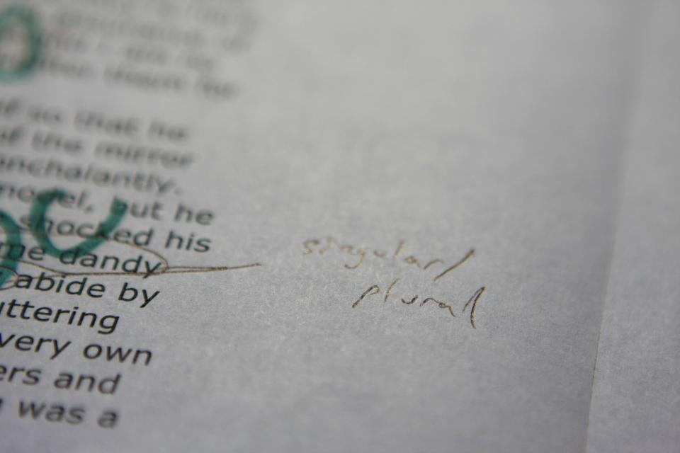 singular: plural